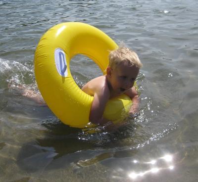 Det är jättevarmt i vattnet - jag vill inte gå upp ...