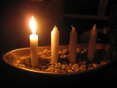 Första ljuset är tänt ...