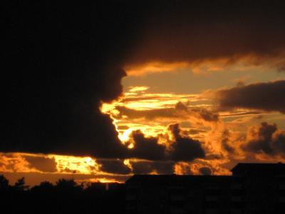 Så här kan det se ut från min balkong ...
