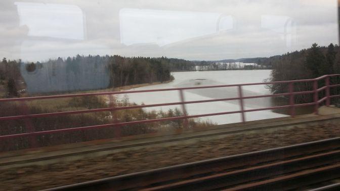 Bild från tåget ...